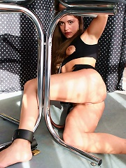 Young Kylenn first experience with bondage