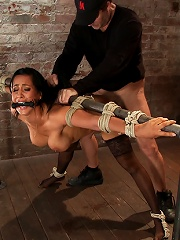 Isis Love, bound, gagged, flogged, fucked to multiple orgasms. Her first submissive role in years!