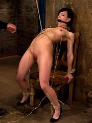 Brutal nipple pulling, slow strangulation, extreme back archingMade to cum so hard, so often.