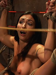 Gymnast, fitness model has her flexibility put to the test.Made to cum until she is a sweaty pig