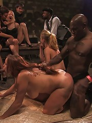 Local amateur tries BDSM for the first time ever and is rewarded with 4 hard black cocks!