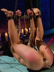 Kink.coms wardrobe stylist punished and ass fucked by Maitresse Madeline!