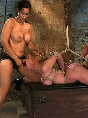 Darling Suffers her Third Category 5 PositionBrutally Fisted and Made toSquirt and Cum!!